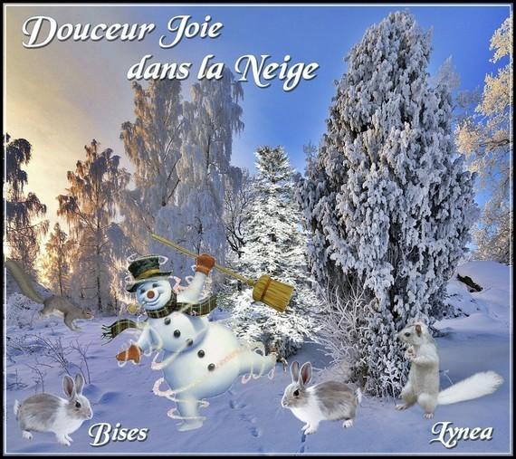Douceur joie dans la Neige bises de Lynea