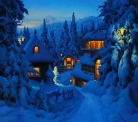 nuit hiver neige
