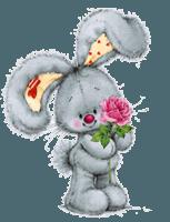 lapin fleurs
