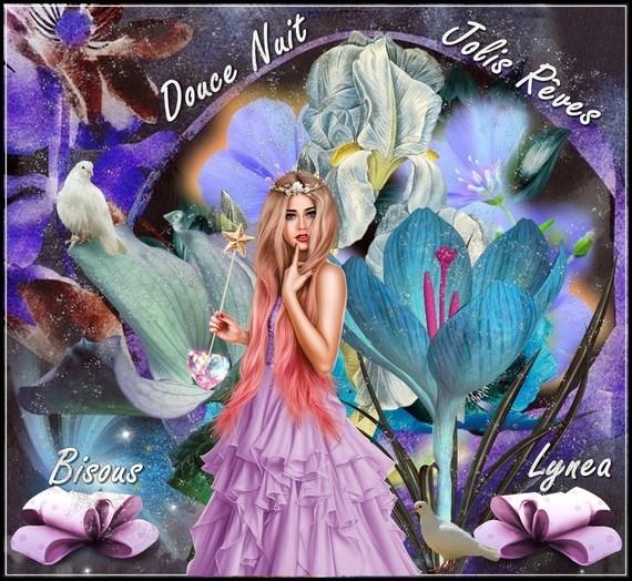 Douce nuit jolis rêves bisous de Lynea