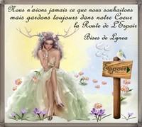 Espoir toujours dans le coeur, bises de Lynea