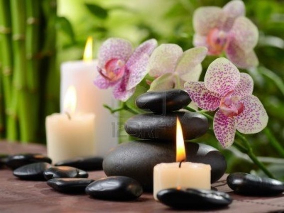 fleur bougie zen