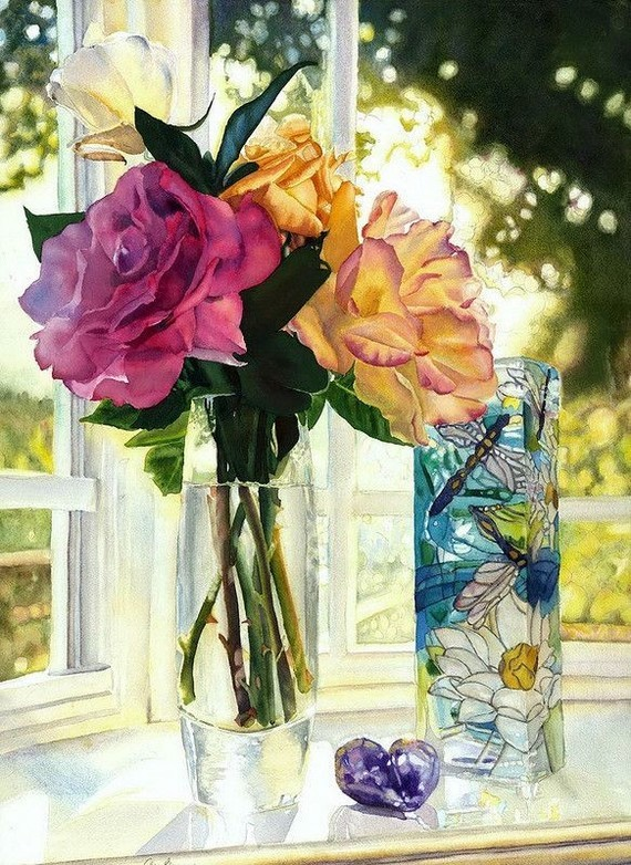 fleurs vase