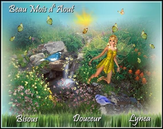 BEAU MOIS D AOUT BISOUS DOUCEUR LYNEA
