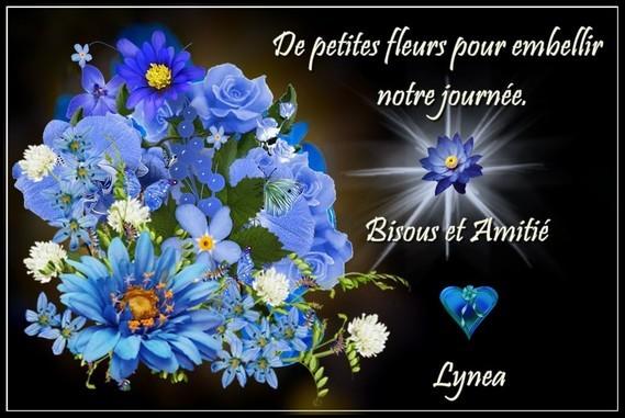 Fleurs pour embellir notre journée, bisous amitié de Lynea