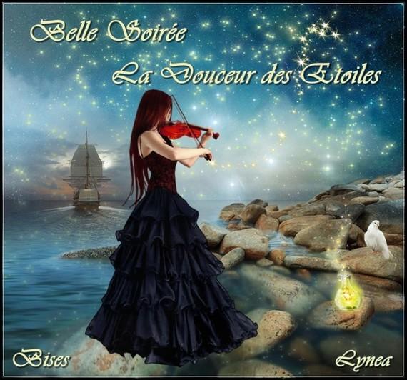 Belle soirée, la douceur des étoiles- bisous de Lynea