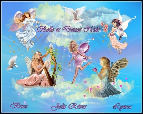 Belle et douce nuit jolis rêves bises de Lynea