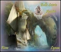 Belle soirée amitié bisous de Lynea