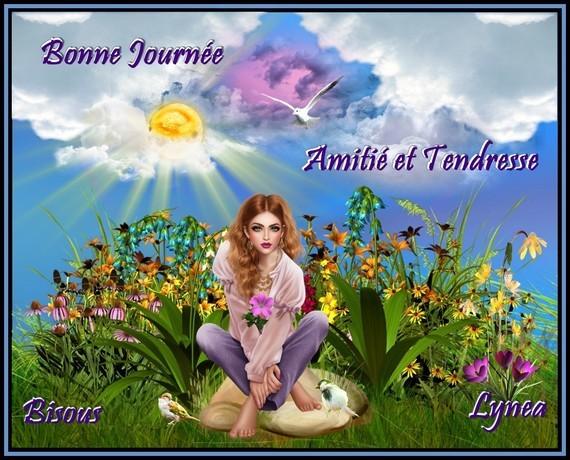 Bonne journée amitié et tendresse bisous de Lynea