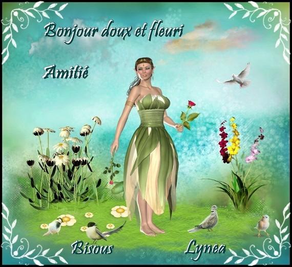 Belle journée avec des fleurs bisous de Lynea