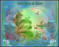 Bon mois de mars amitié bisous de Lynea