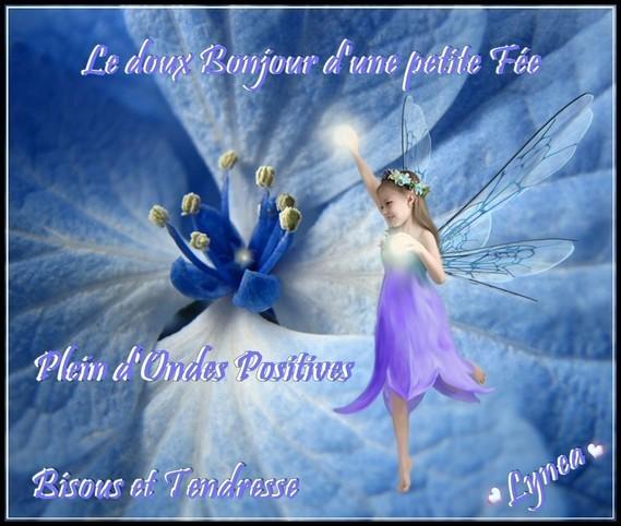 Le doux bonjour d'une petite fée ondes positives bissous de Lynea