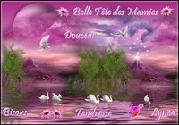 Belle Fête des Mamies douceur tendresse bisous de Lynea
