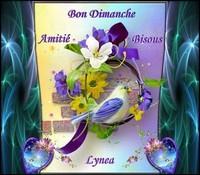 Bon Dimanche bisous amitié de Lynea