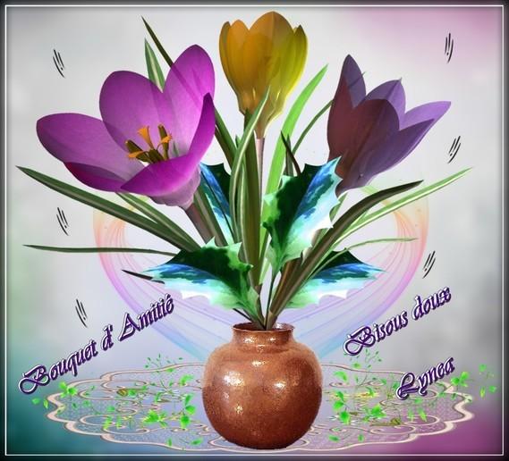 Bouquet d'Amitié, bisous de Lynea