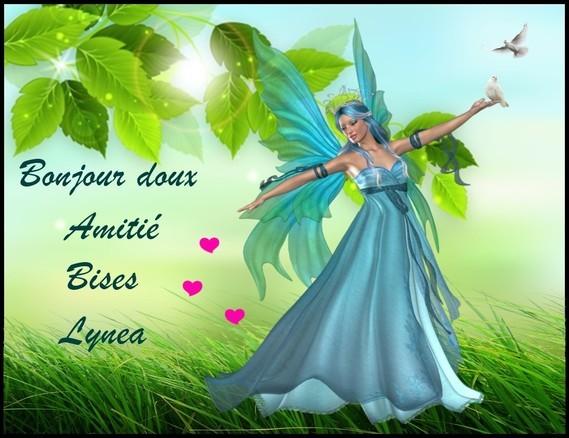 Bonjour doux amitié bises de Lynea
