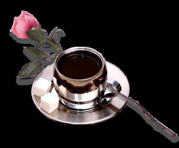tasse café et rose