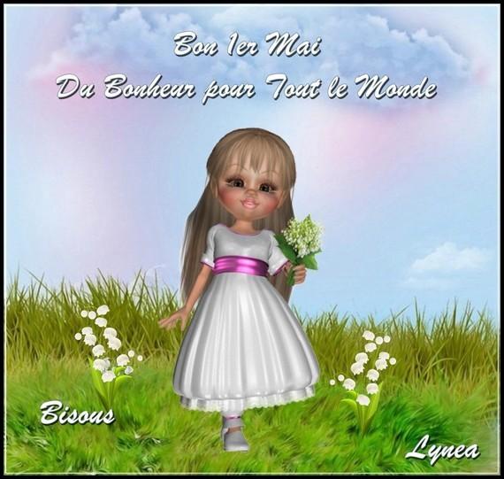 Bon 1er Mai - Du Bonheur pour tout le monde bisous de Lynea