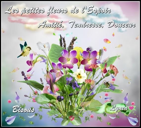 Les petites fleurs de l'Espoir amitié tendresse douceur bisous de Lynea