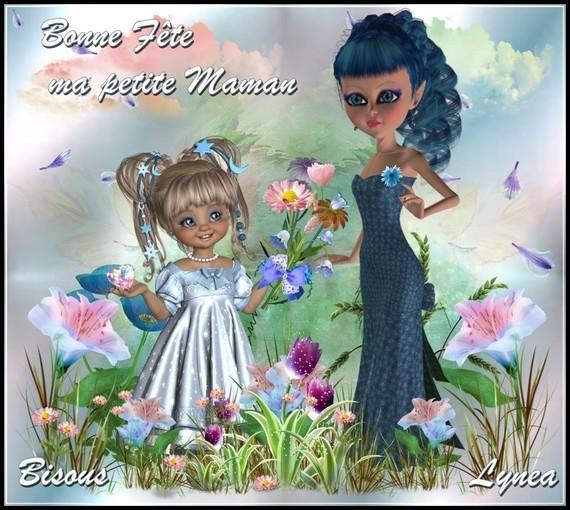 Bonne Fête ma petite Maman, bisous de Lynea