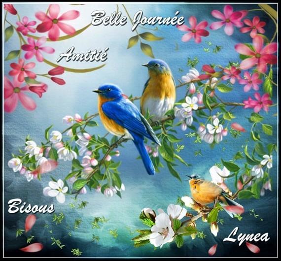 Belle journée amitié bisous oiseaux de Lynea
