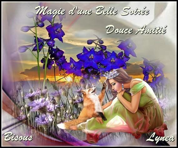 Magie d'une Belle Soirée douce amitié bises de Lynea