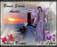 Bonne soirée tendres bisous amitié de Lynea