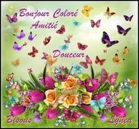 Bonjour coloré amitié douceur bisous de Lynea