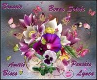 Bonsoir bonne soirée pensées amitié bises de Lynea