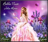 Belle nuit jolis rêves bisous Lynea