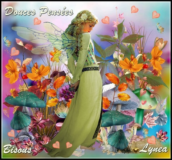 Douces pensées bisous Lynea