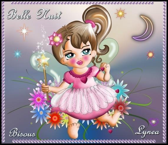 Belle nuit bisous étoiles Lynea