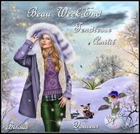 Beau Week-End tendresse amitié douceur bisous Lynea