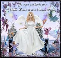 Belle année et bonne santé souhait bisous des fées de Lynea