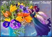 Bouquet d'Amitié bisous de Lynea