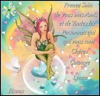 Prenez soin de vous courage bisous de Lynea