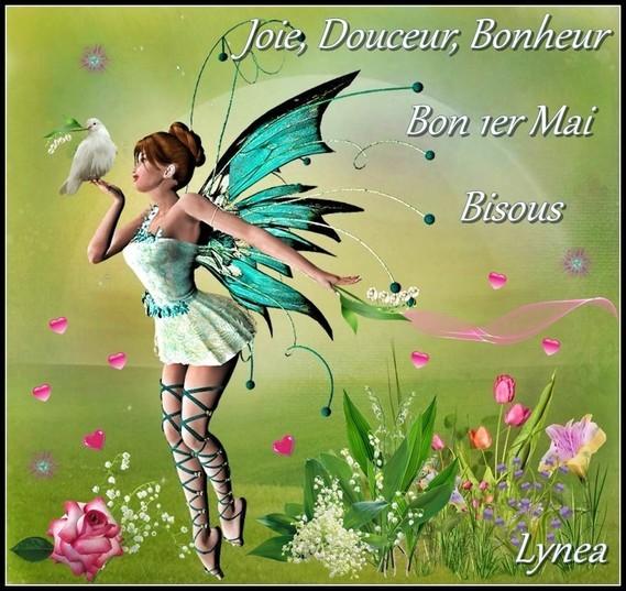 Joie douceur bonheur bon 1er mai bisous de Lynea