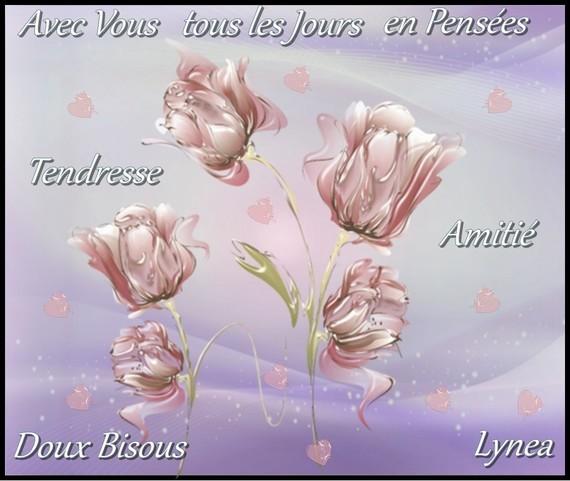 Avec vous tous les jours en Pensées bisous de Lynea