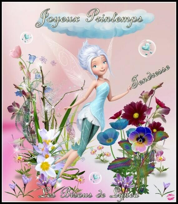 Joyeux Printemps-Tendresse-Les bisous de Lynea