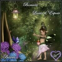Bonsoir lueur d'espoir Bisous de Lynea