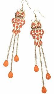 Coral_Owl_Drop_Earrings
