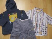Ensemble 3 pièces la compagnie des petits (pantalon et chemise doublés) - 18 mois