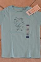 détail t-shirt turquoise okaidi
