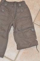 détail bermuda marron okaidi