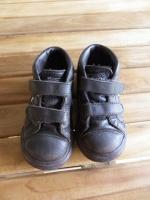 Baskets Converse en cuir marron p.22 (taille 23) - bien portées