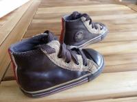 Baskets Converse en cuir marron p.22 (taille 23) - bon état