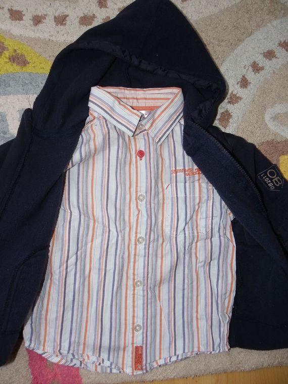 chemise kiabi 4ans et gilet polaire obaibi grand 3ans 7€