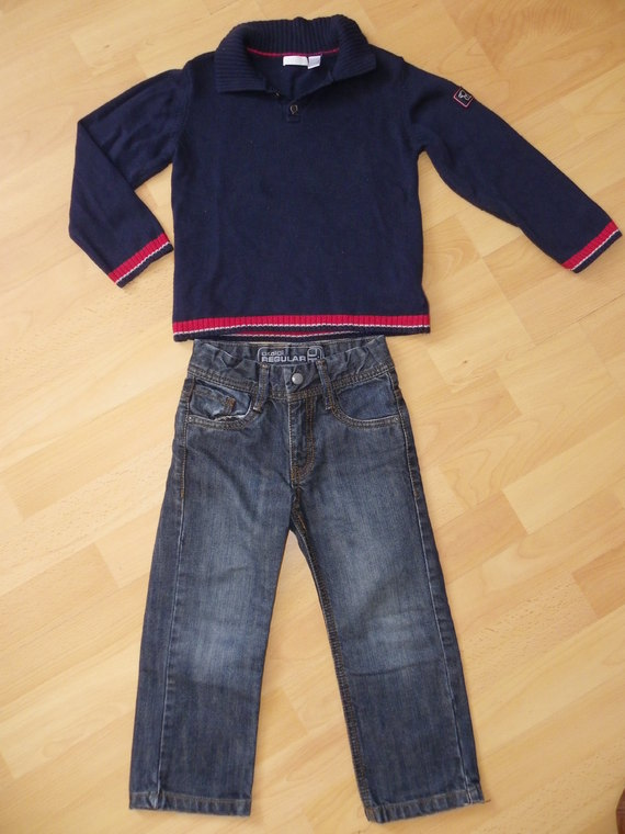 Pull Obaibi grand 3ans BE et jean okaidi 3ans 11€