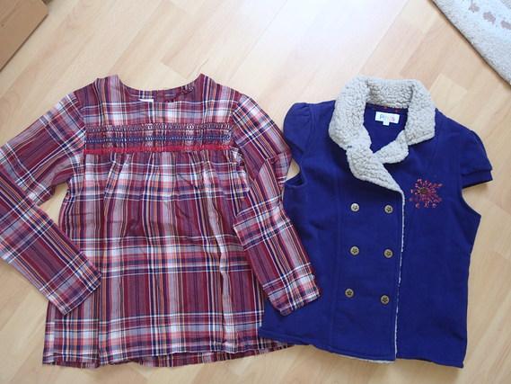 Ensemble la cie des petits - gilet 10ans et blouse 12ans TTBE