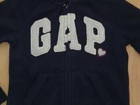 détail polaire GAP bleue